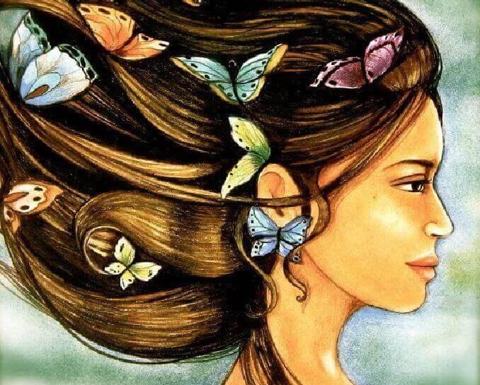 Mulher que aprendeu como lidar com as emoções