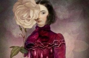Mulher refletindo sobre o ciúme positivo