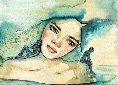 Mulher sentindo ansiedade antecipatória