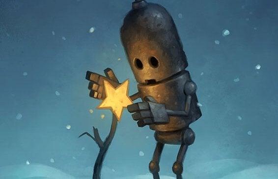 Robô cuidando de estrela