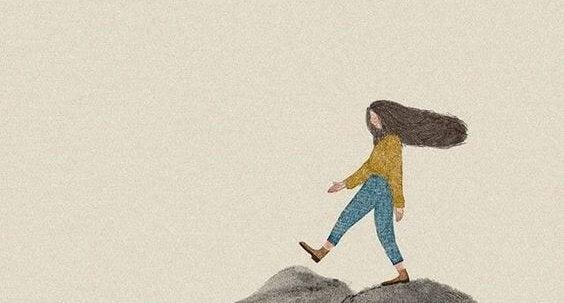 Menina de cabelos longos