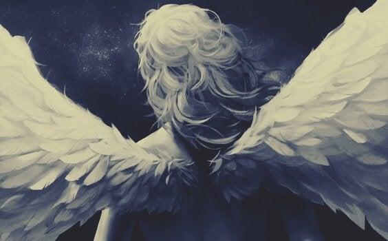 Mulher com asas representando que o tempo voa