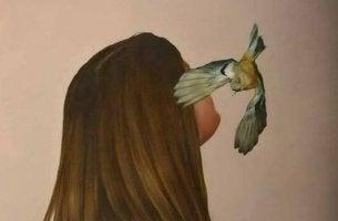 Pássaro falando de coisas que não devemos fazer quando estamos ansiosos