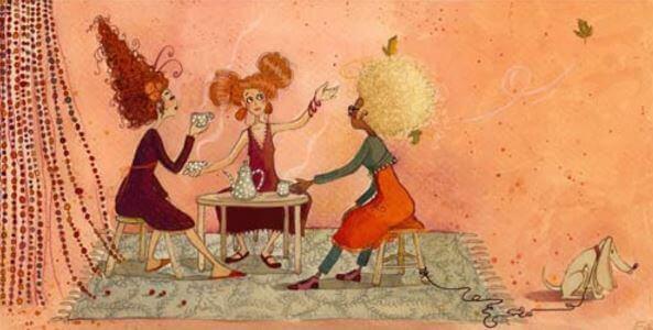 Amigas tomando um café juntas