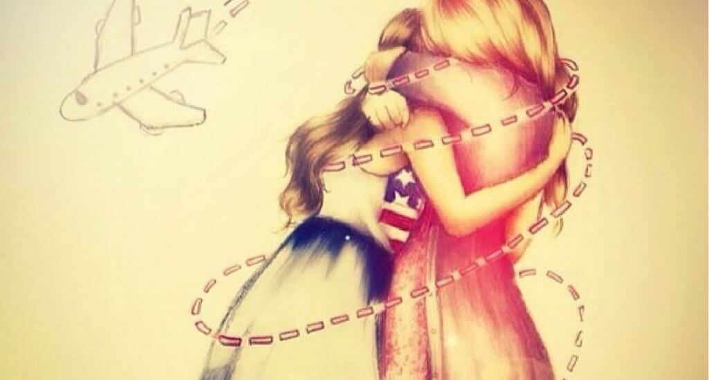 Amigas se abraçando