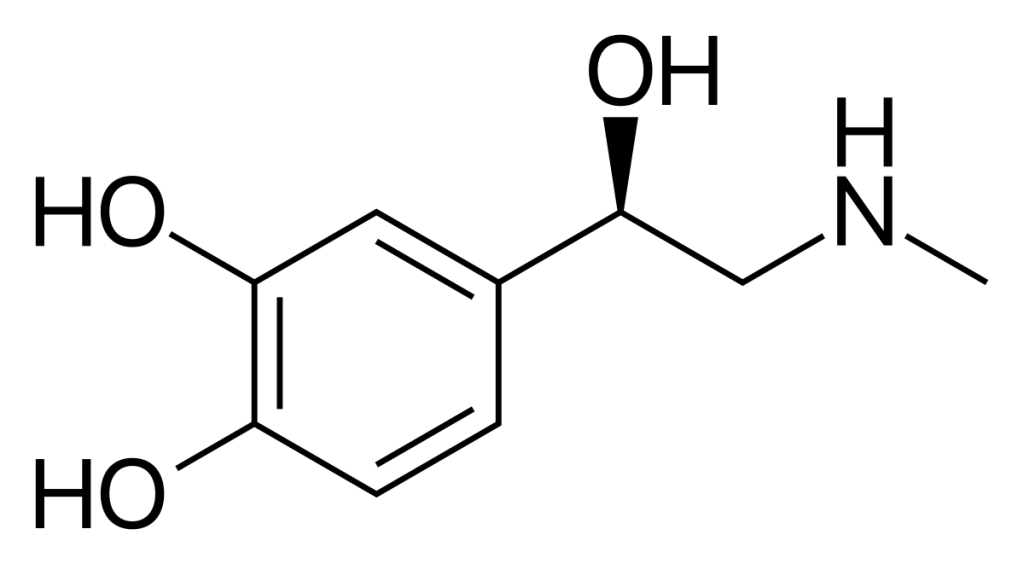 Fórmula química da adrenalina