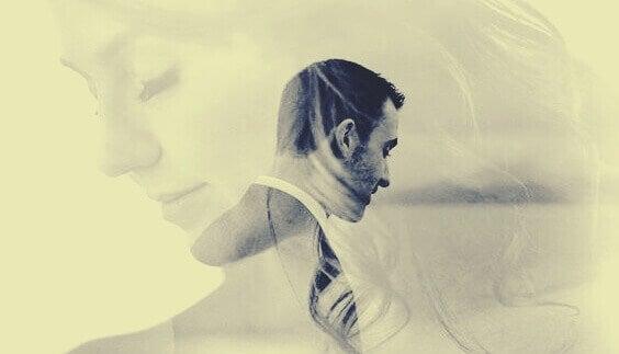 Imagens de homem e mulher sobrepostas