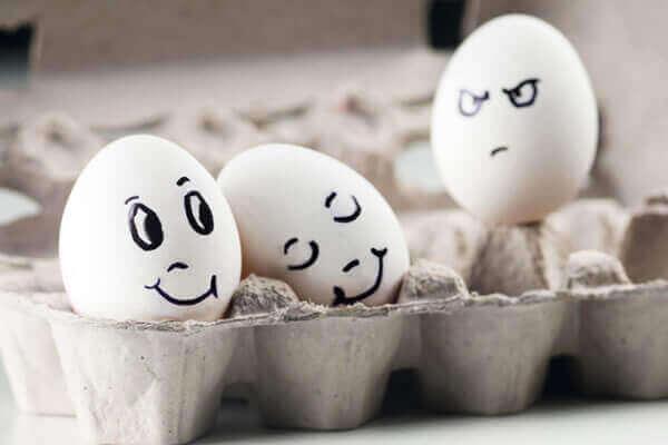 Ovo sentindo inveja de outros ovos