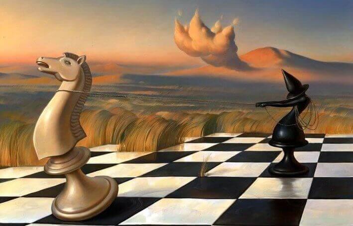 Peças vivas de xadrez