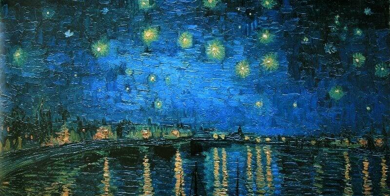 Noite Estrelada sobre o Ródano, de Vincent Van Gogh