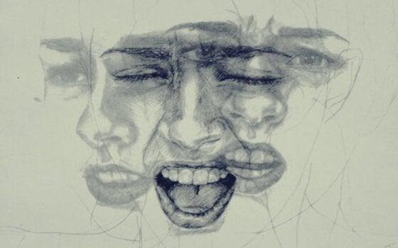 Rosto expressando emoções