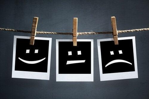 Rostos com diferentes emoções