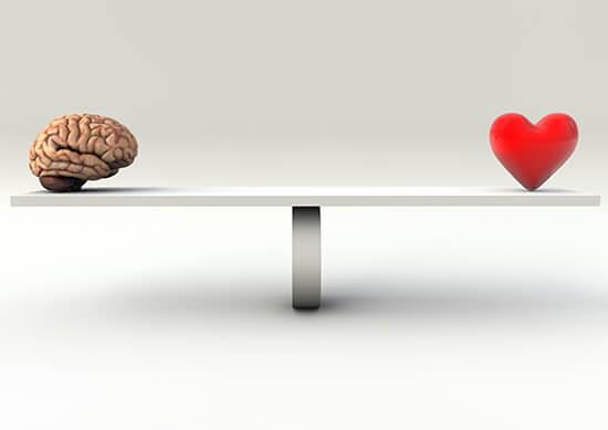 Equilíbrio entre o coração e a razão