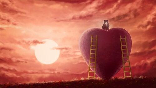 Escadas para o topo de um coração