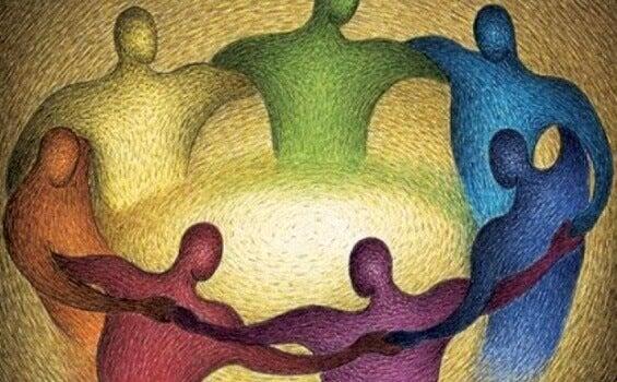 Pessoas unidas em círculo