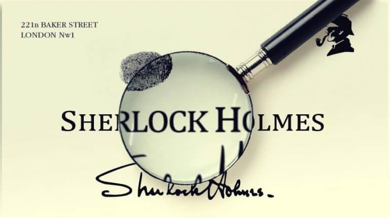 Assinatura de Sherlock Homes