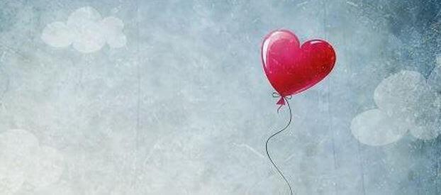 Balão em formato de coração