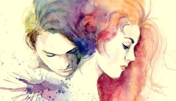 Ilustração casal apaixonado
