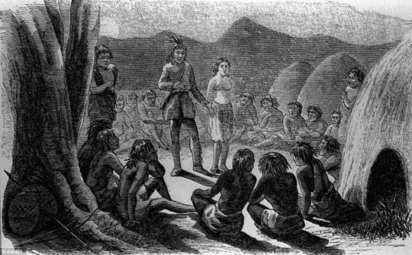Índios reunidos