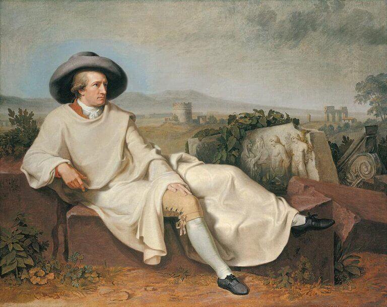 Pintura de homem sentado ao ar livre