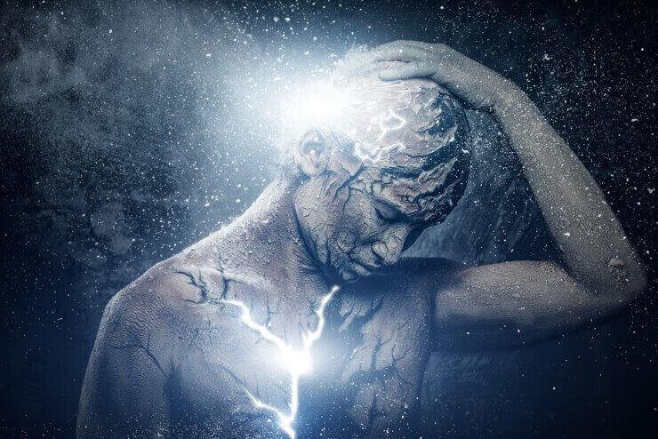 Homem conectado com o universo
