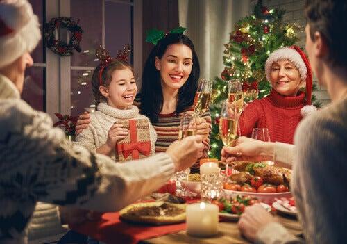 Família unida no Natal