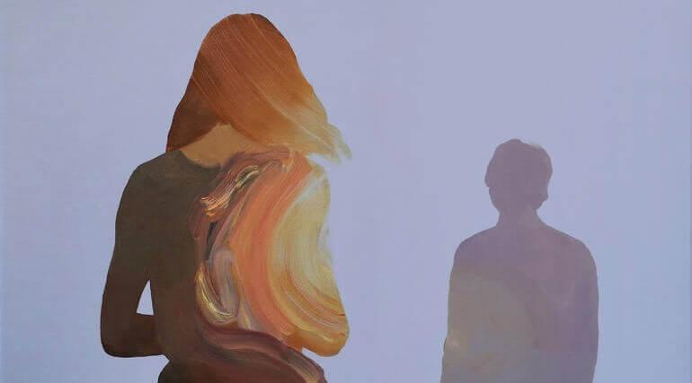 Pintura de mulher e homem