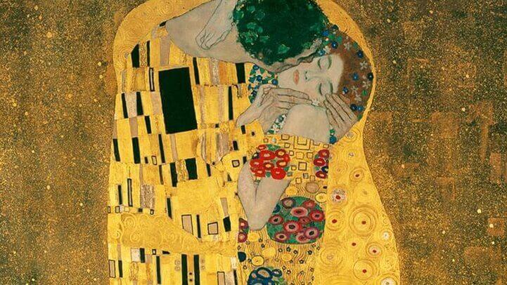 Obra de Klimt, a anatomia do beijo