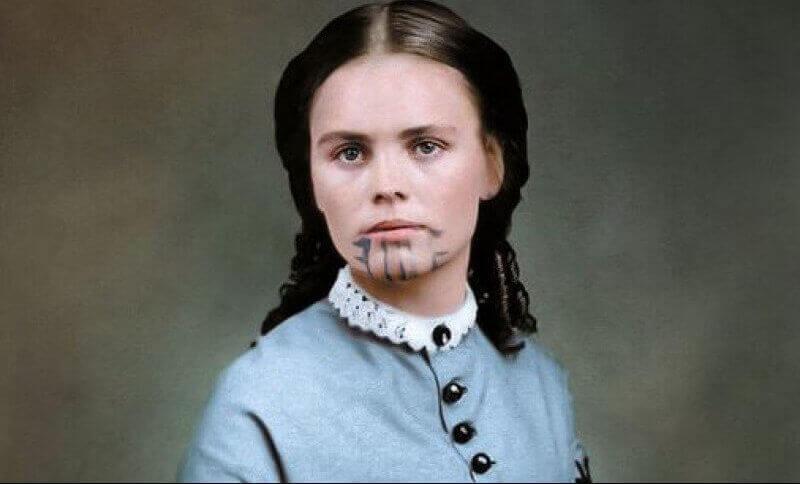 Olive Oatman, a mulher da tatuagem azul e o duplo cativeiro