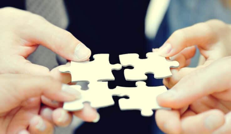 Unir peças do quebra-cabeça