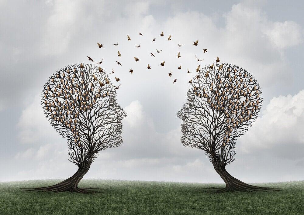 Árvores em forma de cabeça