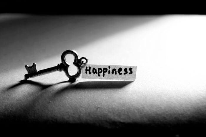 A chave da felicidade