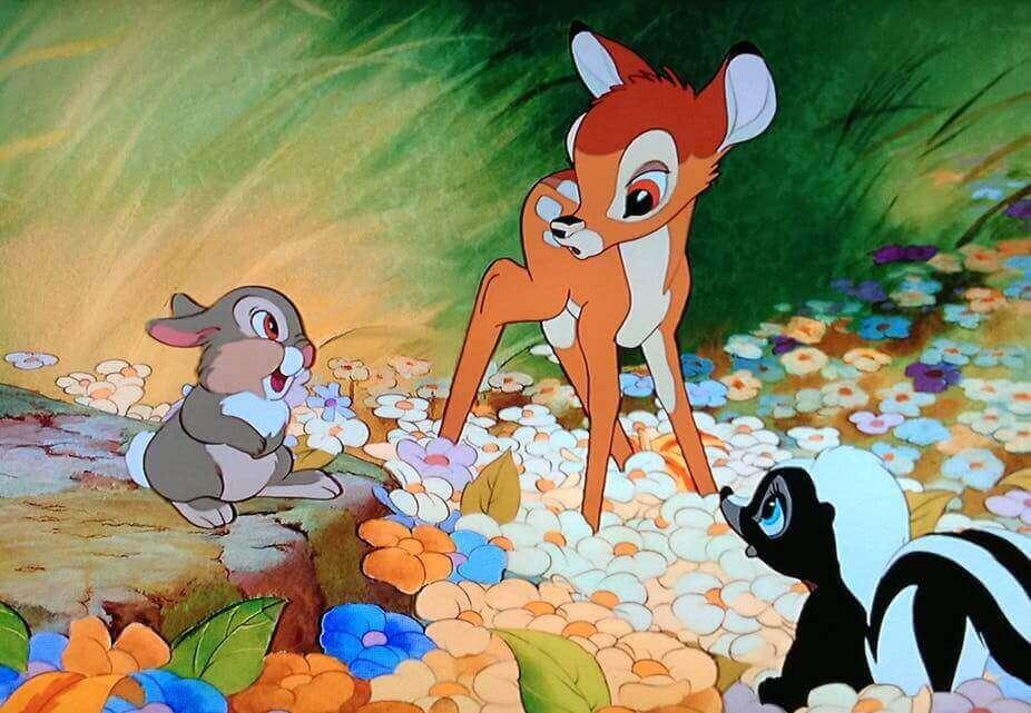 Cena do filme 'Bambi'