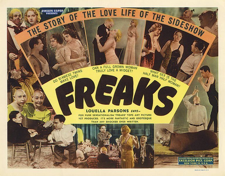 Pôster do filme 'Freaks'