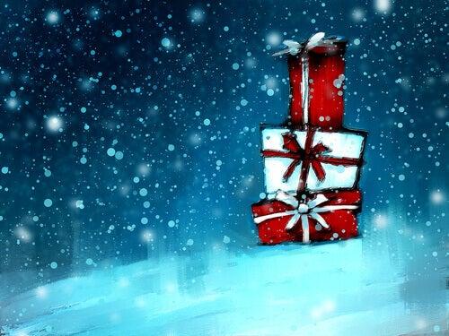 Um caleidoscópio como presente de Natal