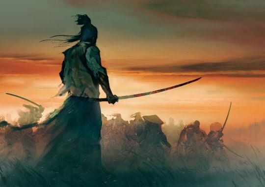 Samurai em uma batalha