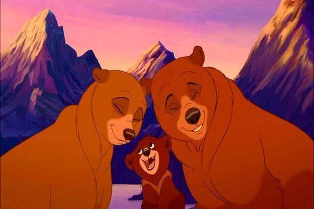 Cena do filme Irmão Urso