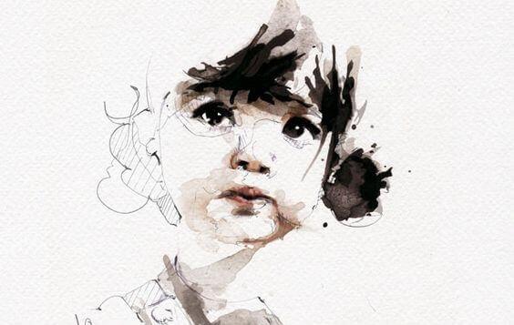 Ilustração de rosto de criança