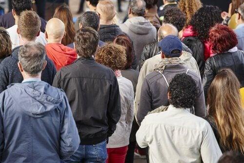Multidão reunida