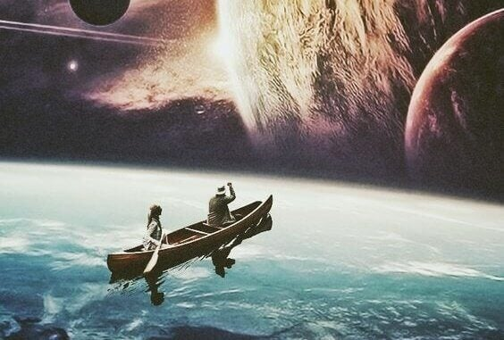 Barco no espaço