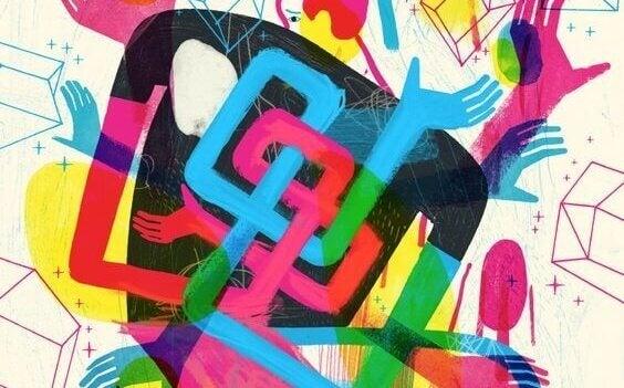 Desenho abstrato e colorido