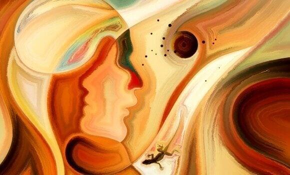 Pintura com rostos