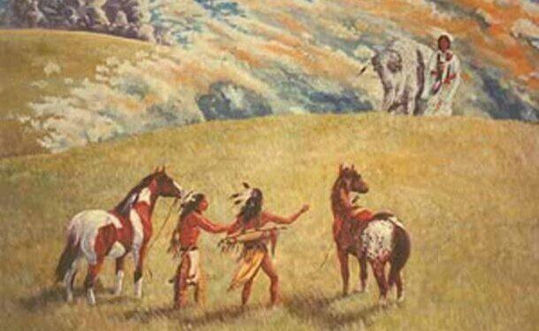 A lenda da mulher do búfalo branco