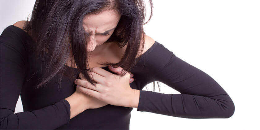 Mulher com dor no coração