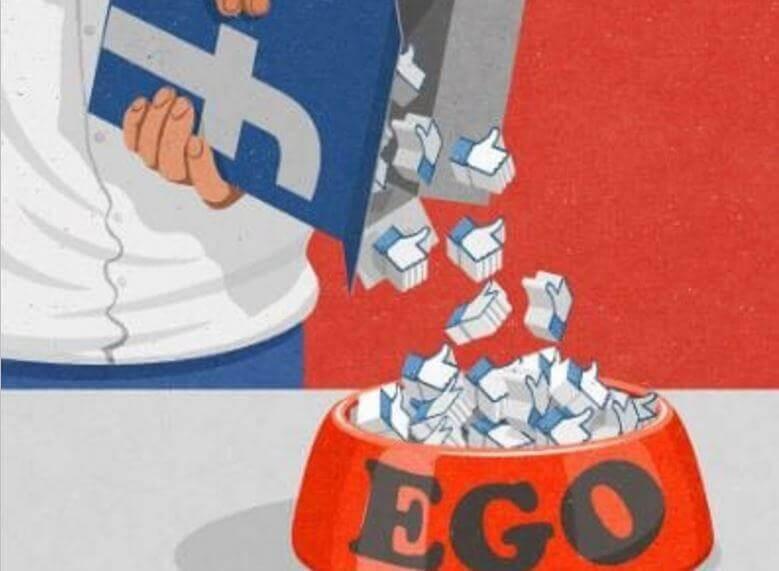 As redes sociais alimentam o ego