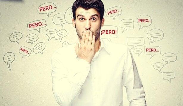 Homem medindo suas palavras