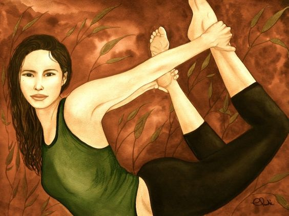 Mulher alongando o músculo da alma