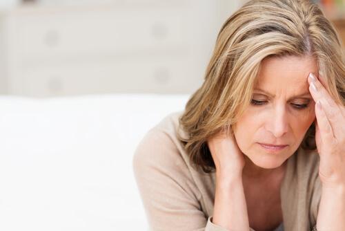 Mulher enfrentando depressão