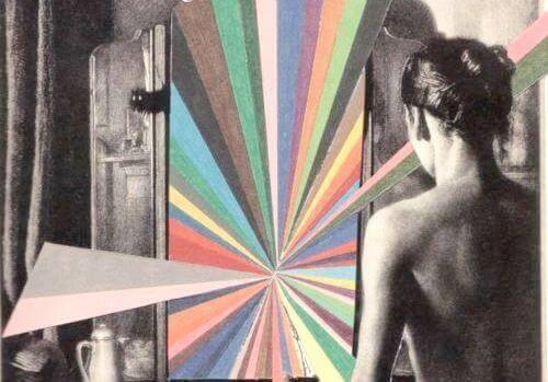 Espelho com cores