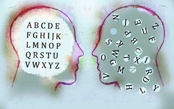 Rostos com letras